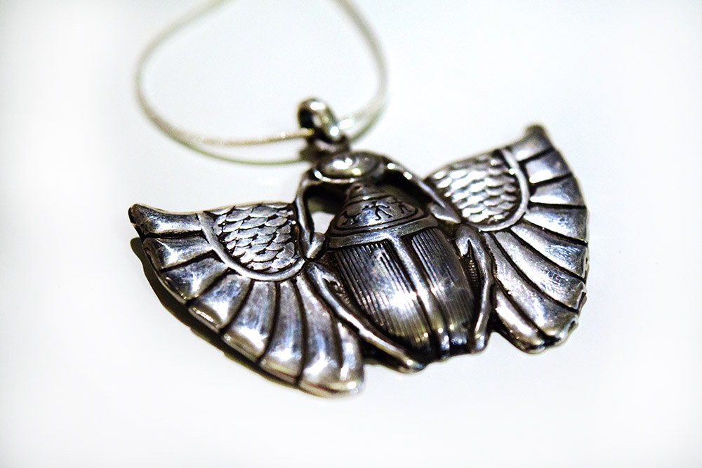 Scarab Beetle Necklace in Sterling Silver « HI Octane ...