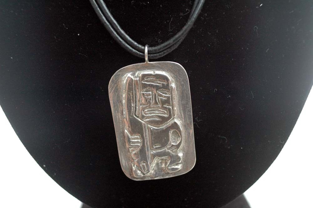 sterling pendant surfer geometric necklace stuff silver awesome